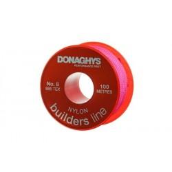 100m Builders Nylon Stringline - Flouro Pink