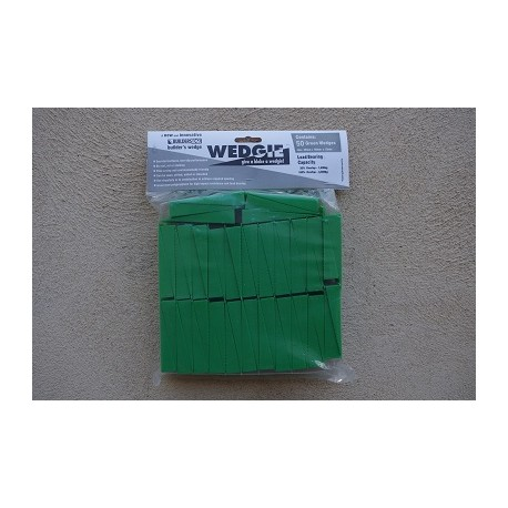 15mm Green Wedges (Bag of 50)