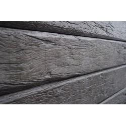 Rustic Woodgrain Sleeper - Charcoal 200x80mm