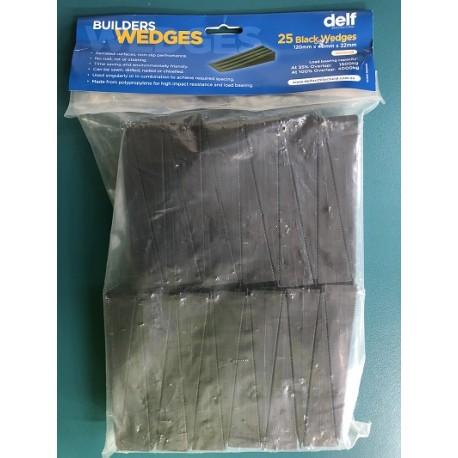 22mm Black Wedges (Bag of 25)