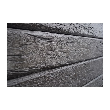 2.0m 200x100mm Timber Grain - Charcoal