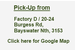Sleepers Direct Warehouse Bayswater Map